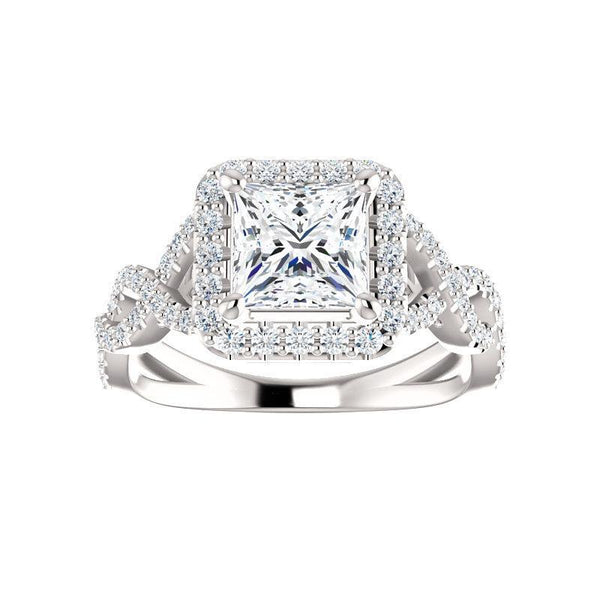 The Arlene Moissanite/ Moissanite Princess