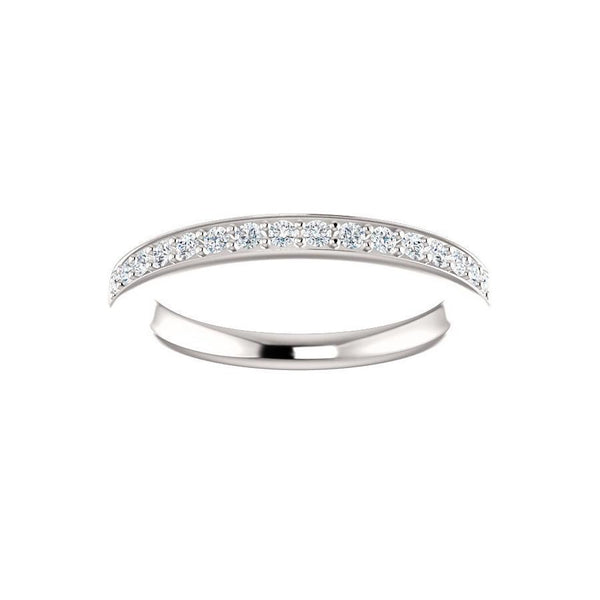 Amelia Moissanite wedding ring in white gold