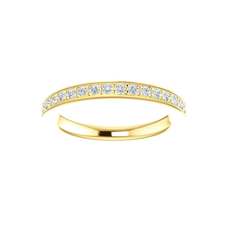 Amelia Moissanite wedding ring in yellow gold