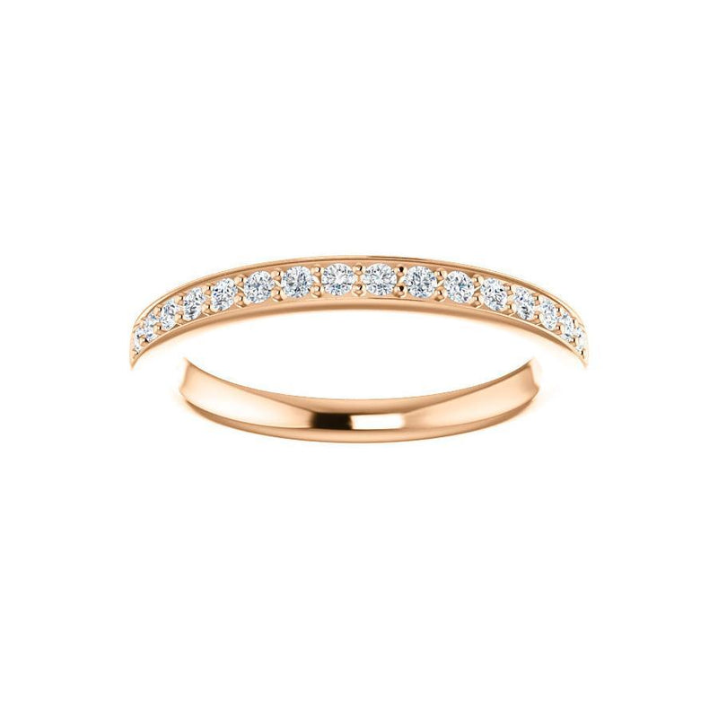 Amelia Moissanite wedding ring in rose gold