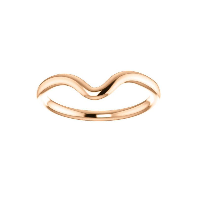 The Interlace Design Wedding Ring In Rose Gold