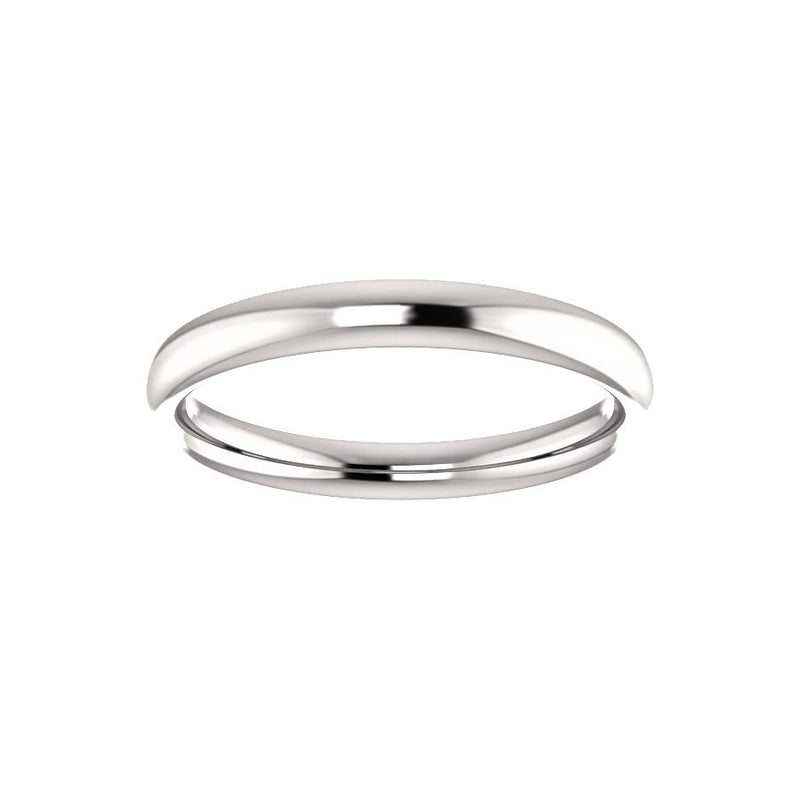 The Debra Band Rope Design Wedding Ring In White Gold