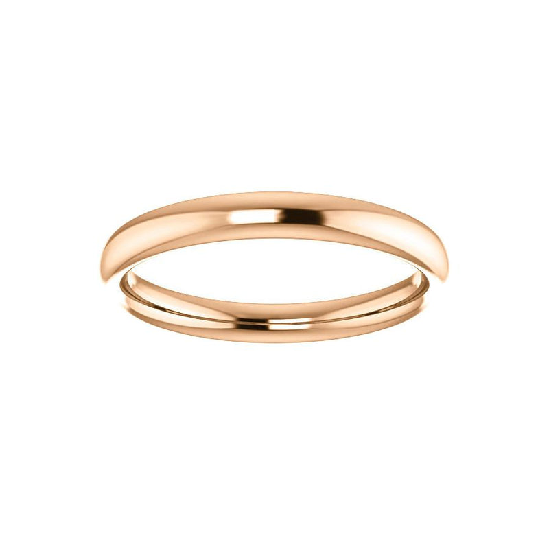 The Debra Band Rope Design Wedding Ring In Rose Gold