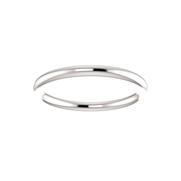 The Teresa Band High Polished Design Wedding Ring In White Gold