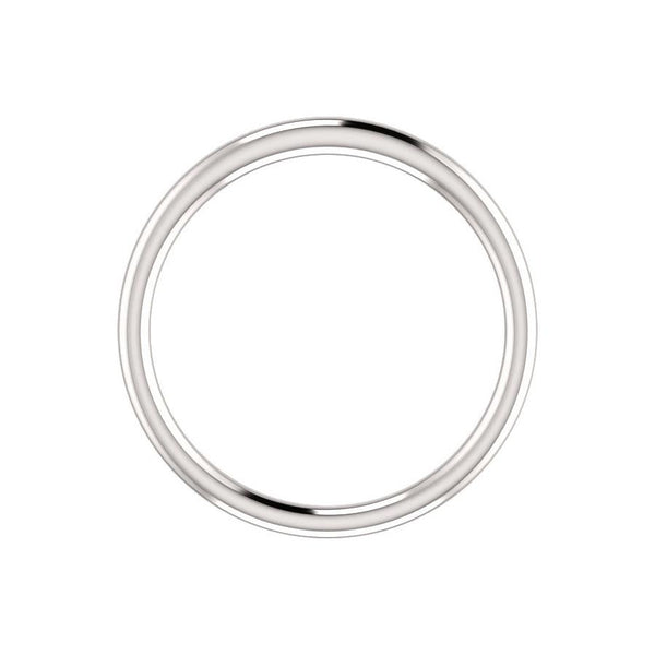 The Teresa Band High Polished Design Wedding Ring In White Gold Profile
