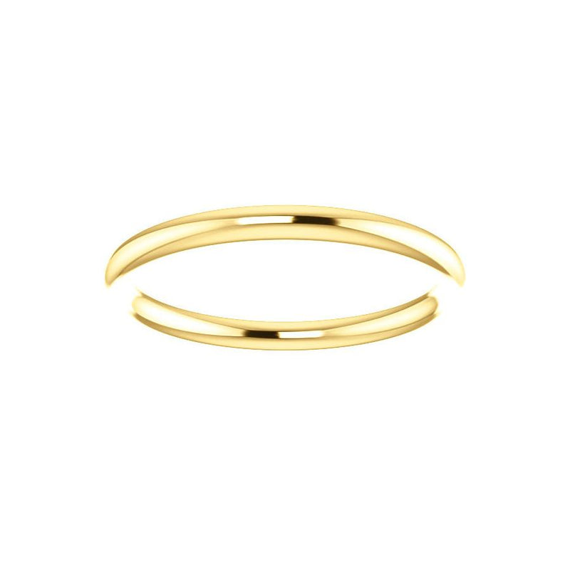 The Teresa Band High Polished Design Wedding Ring In Yellow Gold