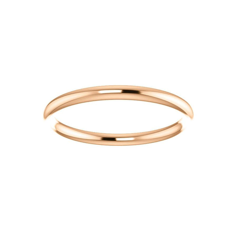 The Teresa Band High Polished Design Wedding Ring In Rose Gold