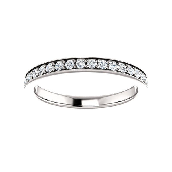 Andrea Moissanite wedding ring in white gold