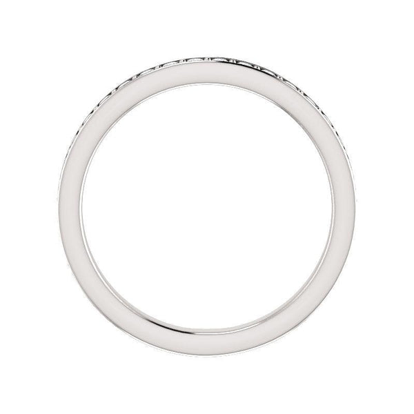 Andrea diamond wedding ring in white gold profile