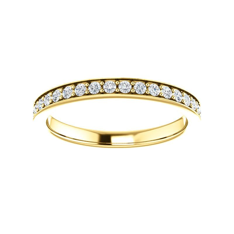 Andrea Moissanite wedding ring in yellow gold
