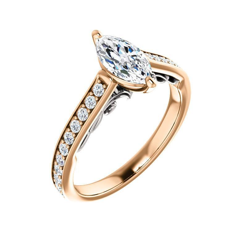 The Andrea Moissanite/ Moissanite Marquise