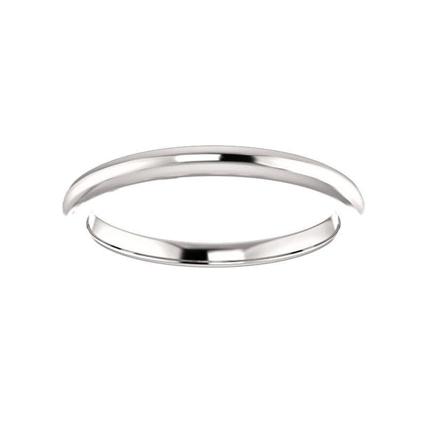 The Four Prongs Design Wedding Ring In White Gold