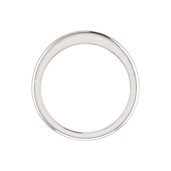 The Four Prongs Design Wedding Ring In White Gold Profile