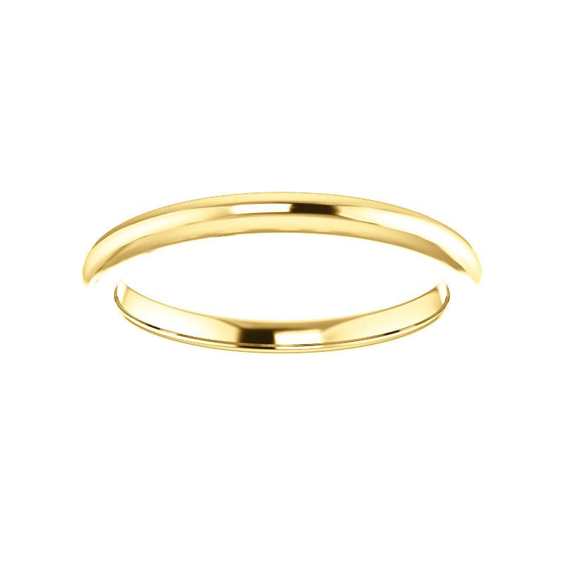 The Four Prongs Design Wedding Ring In Yellow Gold