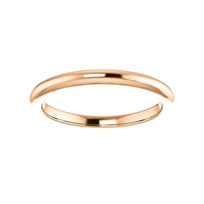 The Four Prongs Design Wedding Ring In Rose Gold
