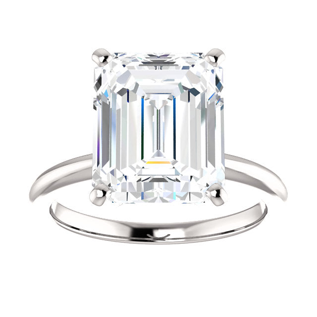 The Four Prongs Moissanite Emerald
