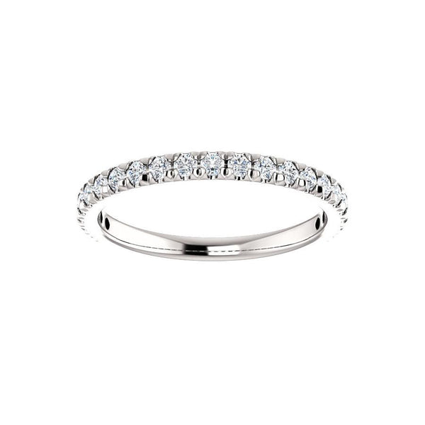 Kathe II Moissanite wedding ring in white gold