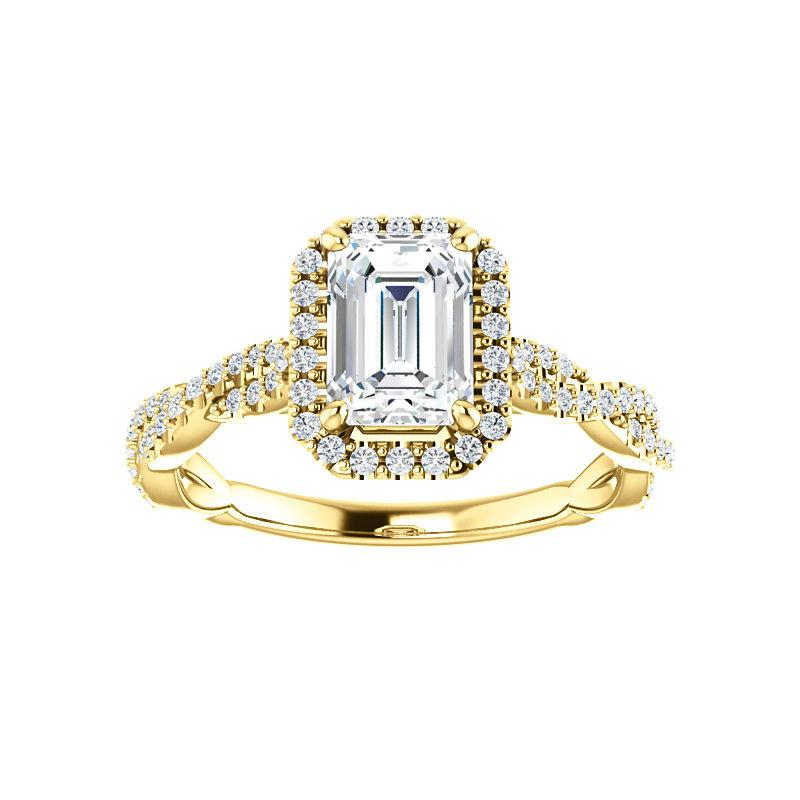 The Margie Moissanite Emerald