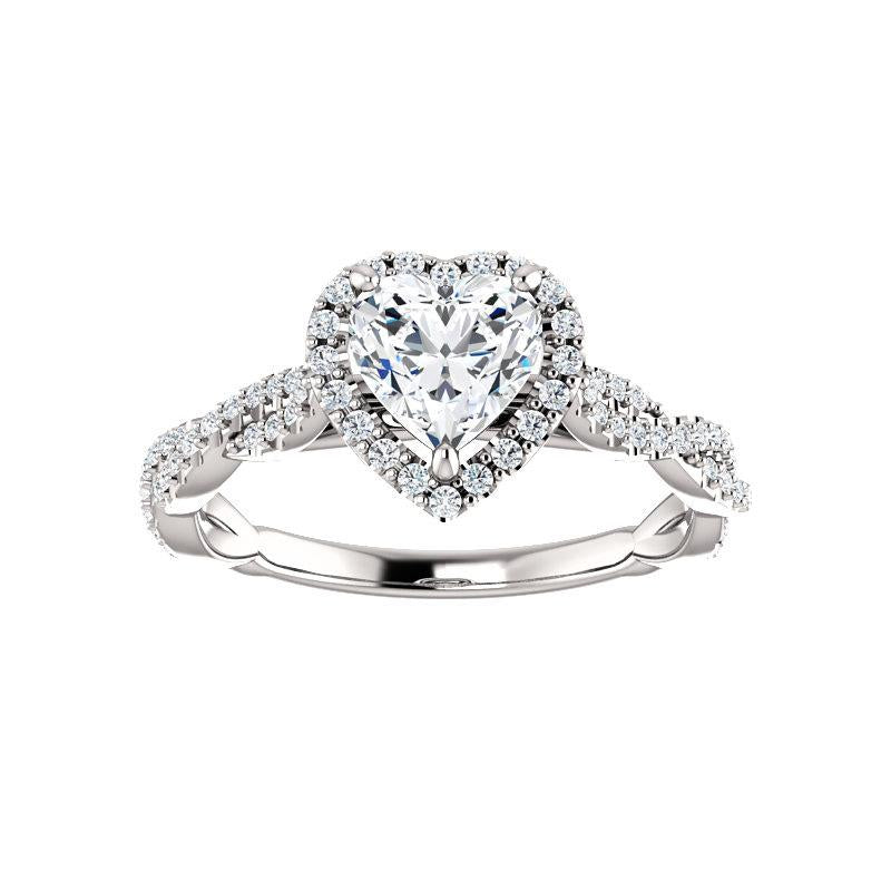The Margie Moissanite Heart