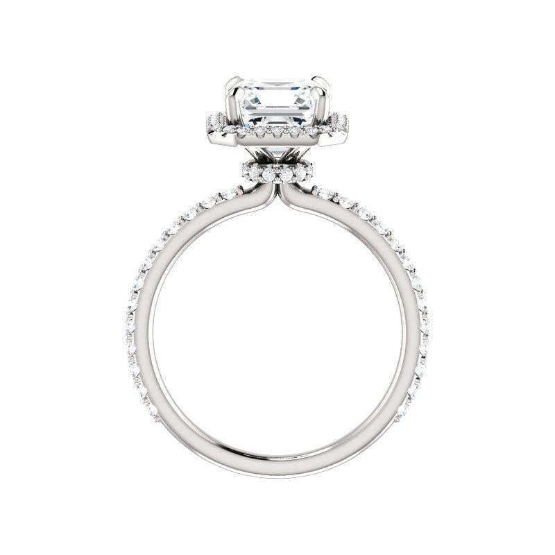 The Ada Moissanite Asscher