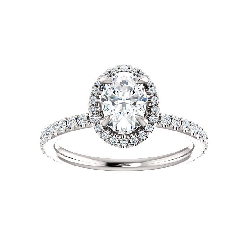 The Ada Moissanite Oval