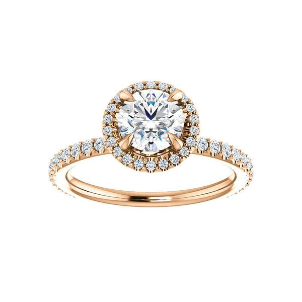 The Ada Moissanite Round