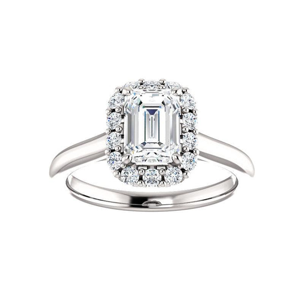 The Janie Moissanite Emerald