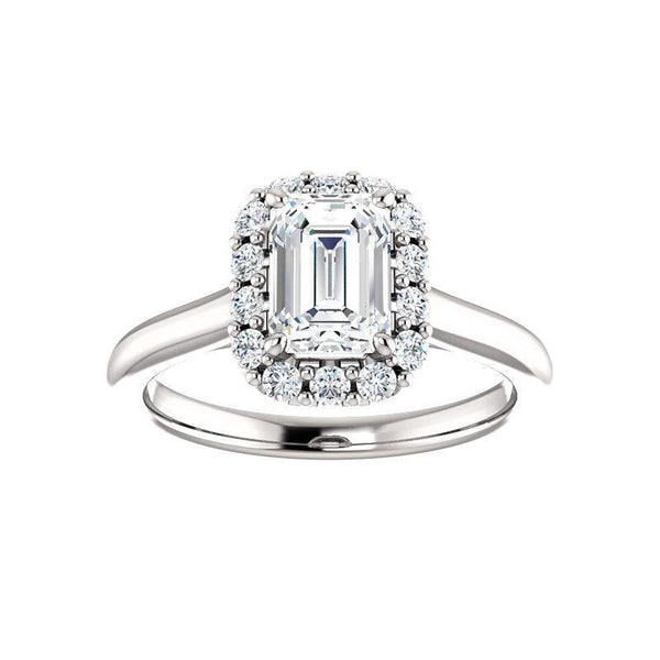 The Janie Moissanite/ Moissanite Emerald