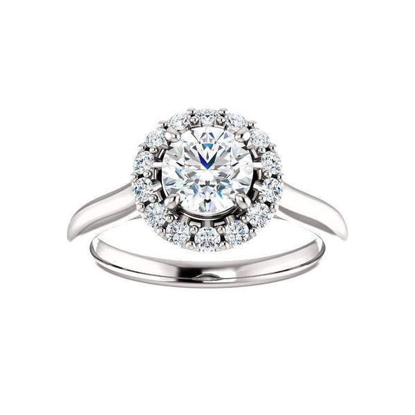 The Janie Moissanite/ Moissanite Round