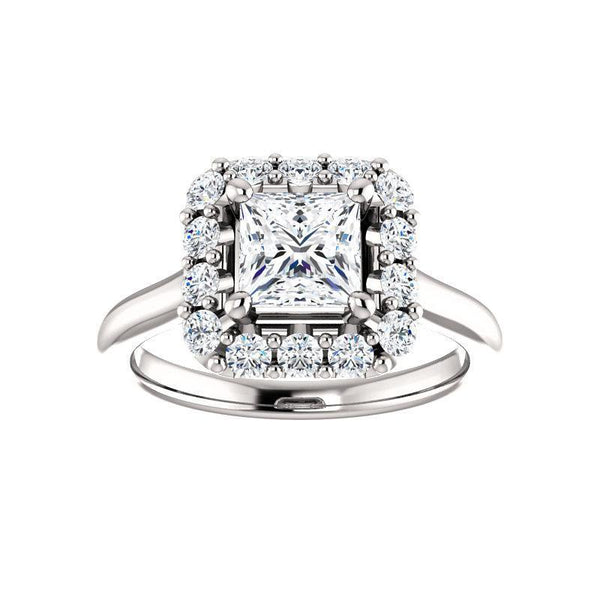 The Janie Moissanite/ Moissanite Princess
