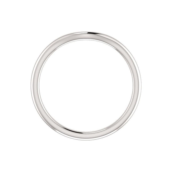 The Kelsea Design Wedding Ring In White Gold Profile