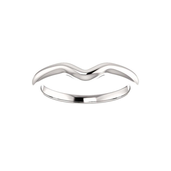 The Six Prongs Design Wedding Ring In White Gold