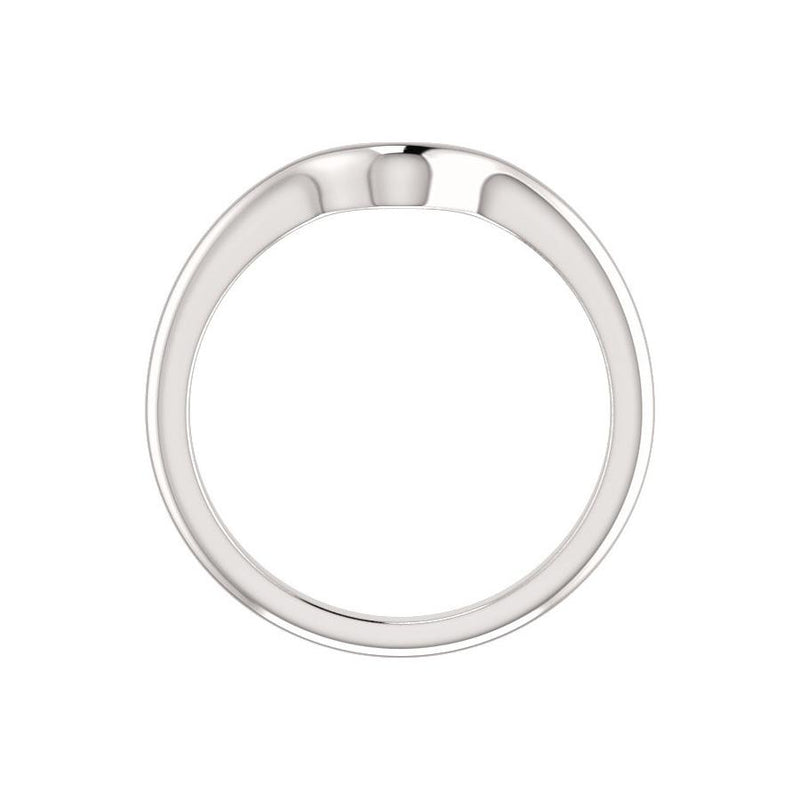 The Six Prongs Design Wedding Ring In White Gold Profile