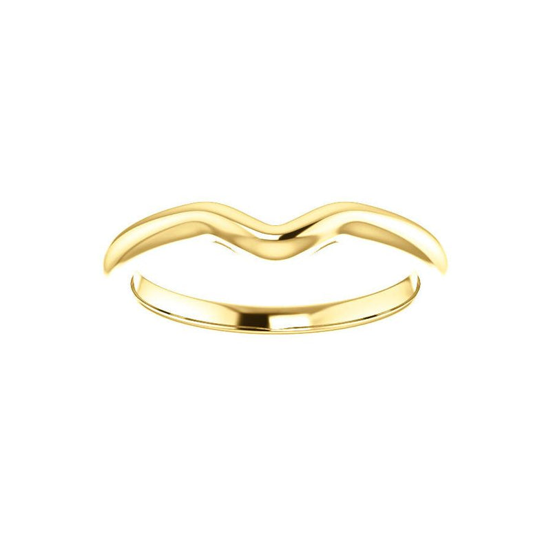 The Six Prongs Design Wedding Ring In Yellow Gold