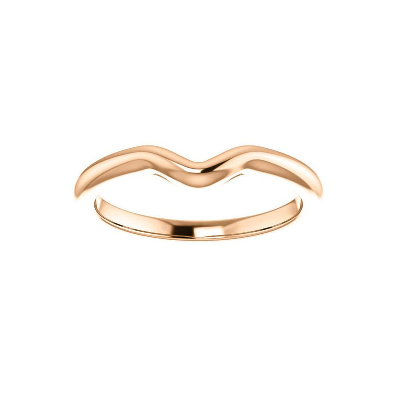 The Six Prongs Design Wedding Ring In Rose Gold