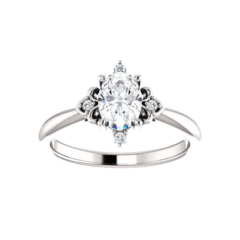 The Lillia Moissanite/ Moissanite Oval