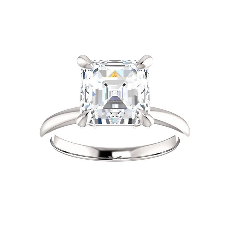 The Julie Asscher Moissanite Engagement Ring Solitaire Setting White Gold