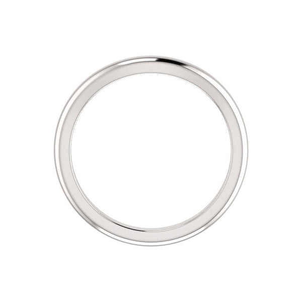 The Tina Design Wedding Ring In White Gold Profile