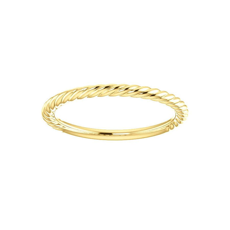 The Lacey Band Rope Design Wedding Ring In Yellow Gold