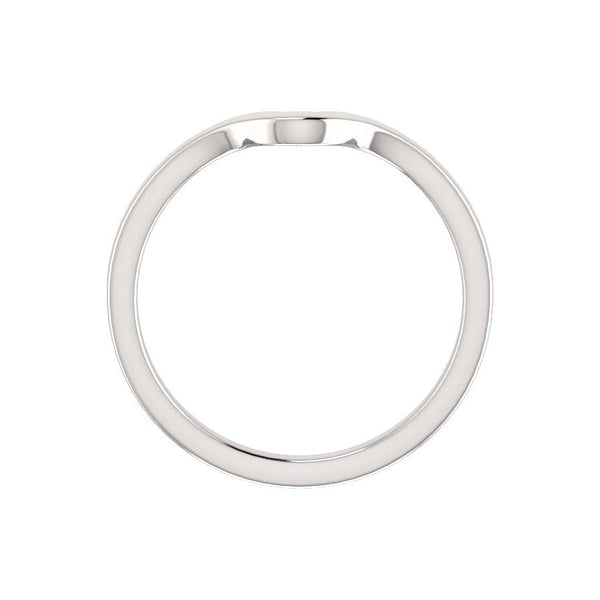 The Jamie Design Wedding Ring In White Gold Profile