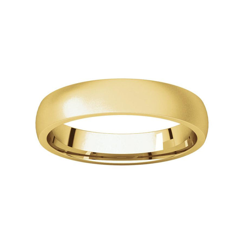The Dome Comfort Fit (4mm) in yellow gold