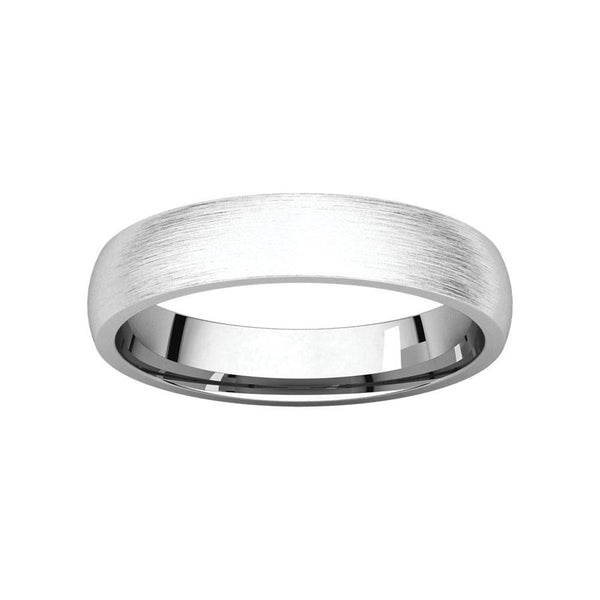The Dome Comfort Fit (4mm) in white gold