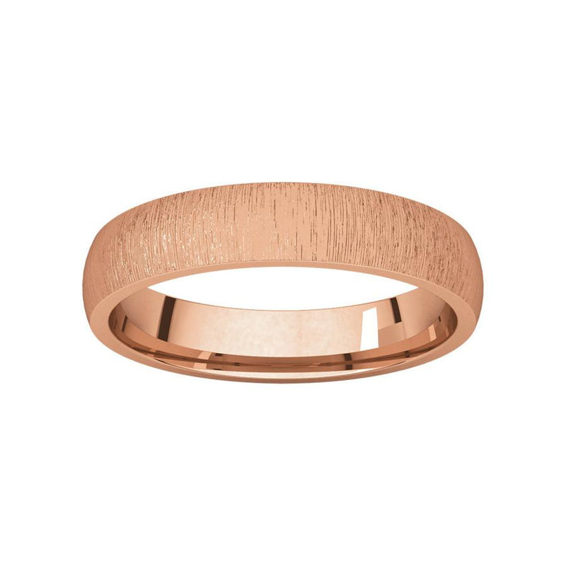 The Dome Comfort Fit (4mm) in rose gold