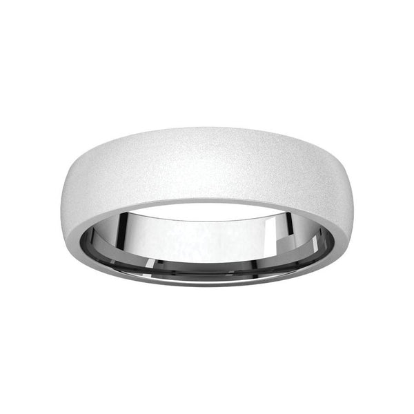 The Dome Comfort Fit (5mm) in white gold