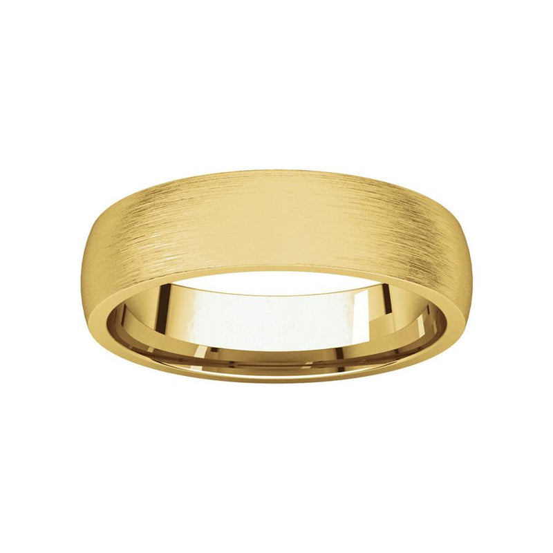 The Dome Comfort Fit (5mm) in yellow gold