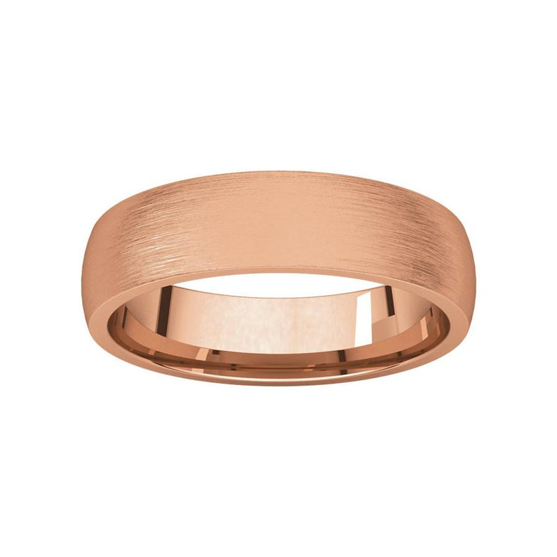 The Dome Comfort Fit (5mm) in rose gold