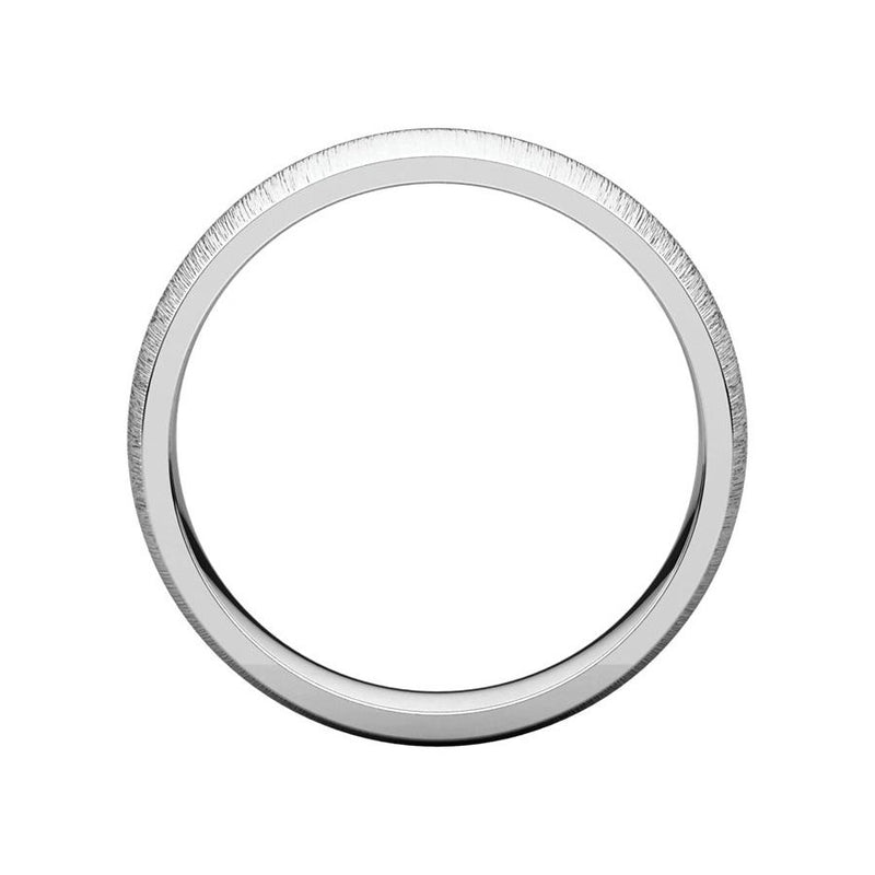 The Dome Comfort Fit (5mm) in white gold side profile
