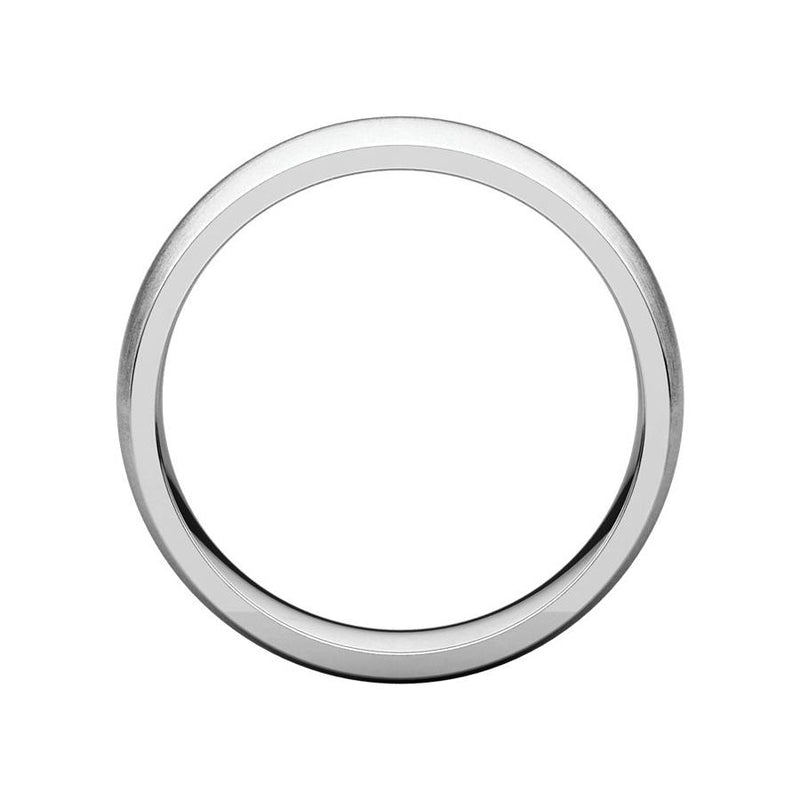 The Dome Comfort Fit (6mm) in white gold side profile