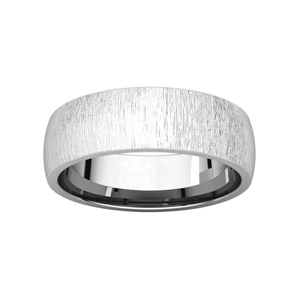 The Dome Comfort Fit (6mm) in white gold