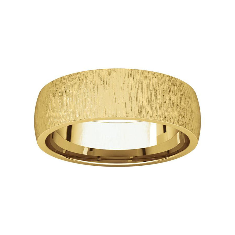 The Dome Comfort Fit (6mm) in yellow gold